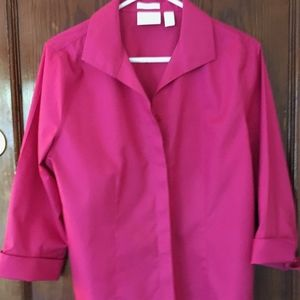 Chico's Hot Pink Cotton Blouse